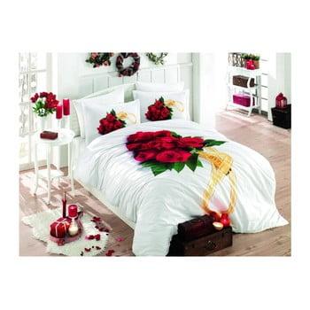 Lenjerie de pat și cearșaf din bumbac poplin Rosemary, 200 x 220 cm de la Hobby