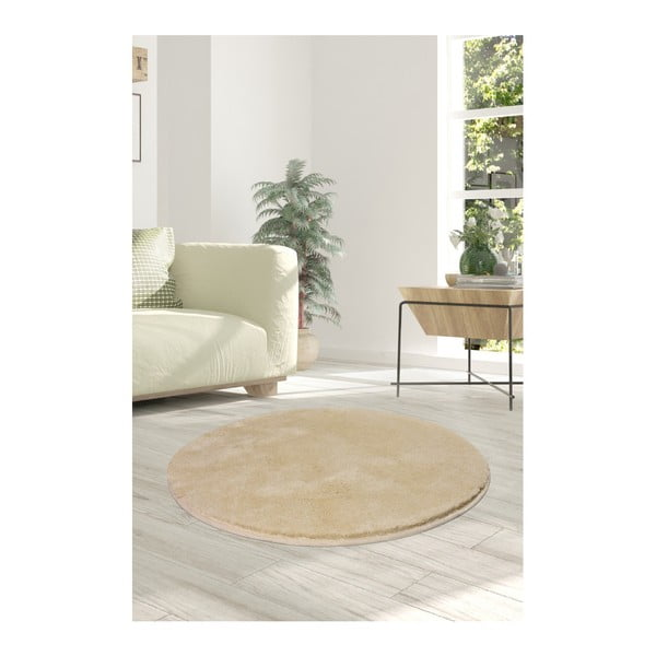 Světle béžový koberec Milano, ⌀90cm