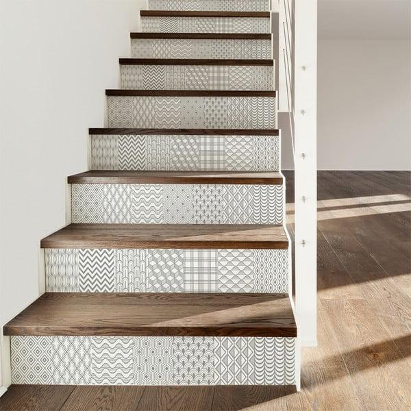 Komplet 2 naklejek na schody Ambiance Thorvald, 15x105 cm