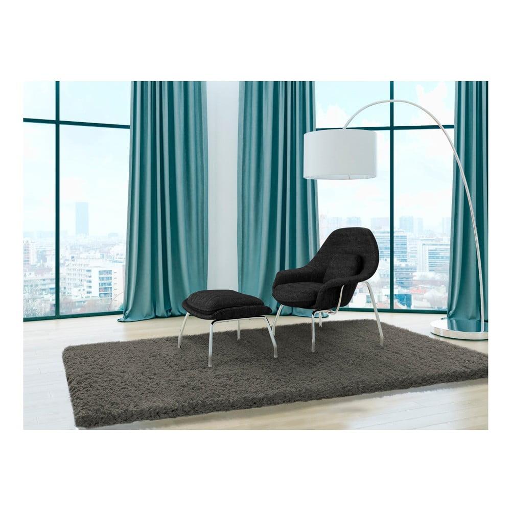Produktové foto Tmavě šedý koberec Universal Floki Liso, 200x290cm