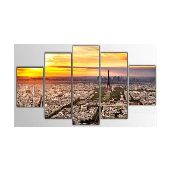 5dílný obraz Paris, 100x60 cm