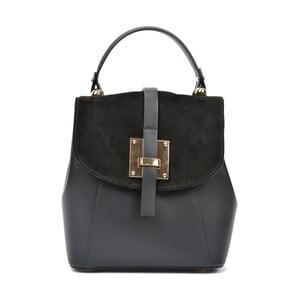 Černý kožený batoh Carla Ferreri Monica