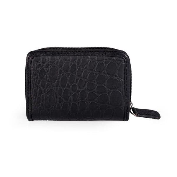 Černo-bílá peněženka na drobné SKPA-T, 10,5 x 7 cm
