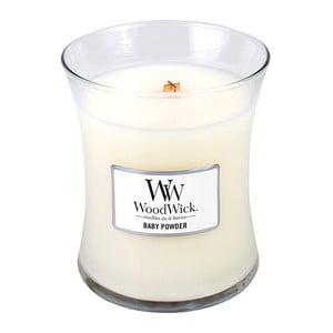 Svíčka s vůní vanilky, medu a růže WoodWick Dětský pudr, dobahoření60hodin