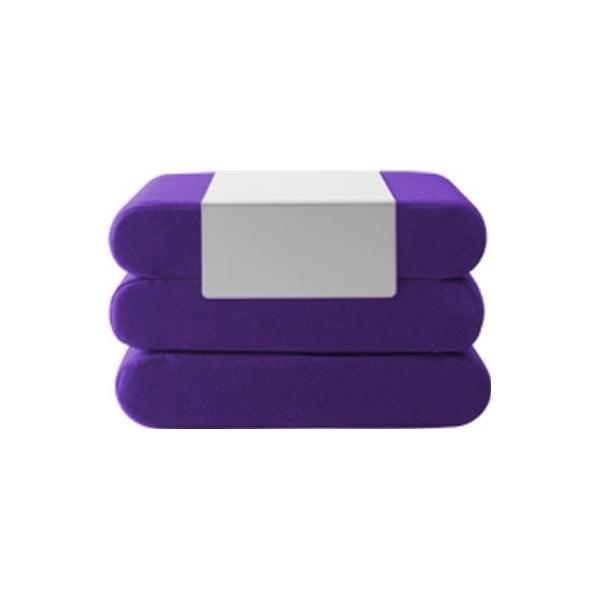 Tmavě fialový rozkládací puf Softline Bingo Felt Dark Lilac