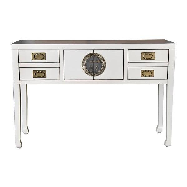 Bílý konzolový stolek z topolového dřeva SOB China