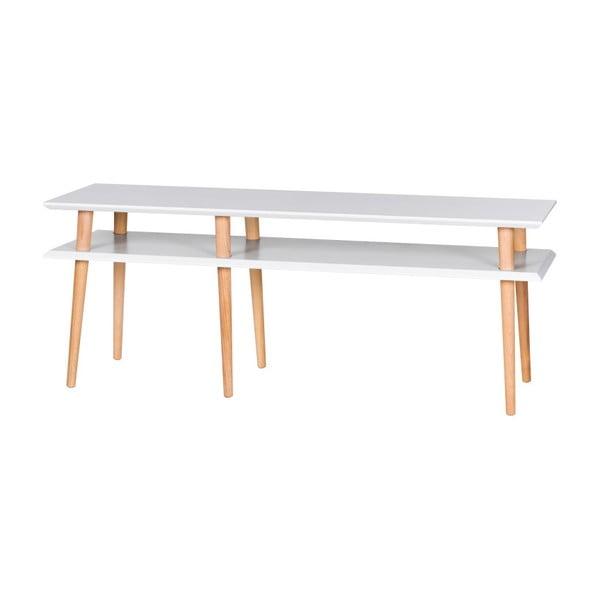 Mungo fehér dohányzóasztal, hossza 139 cm - Ragaba