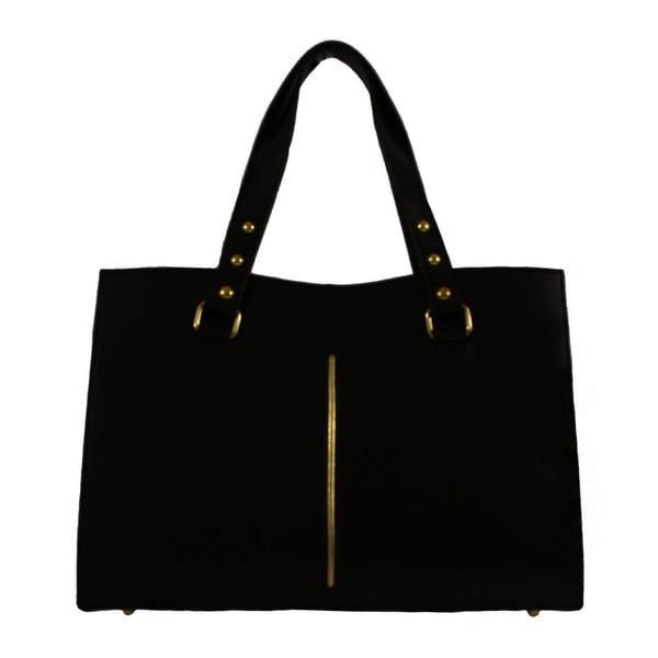 Černá kožená kabelka Veronica