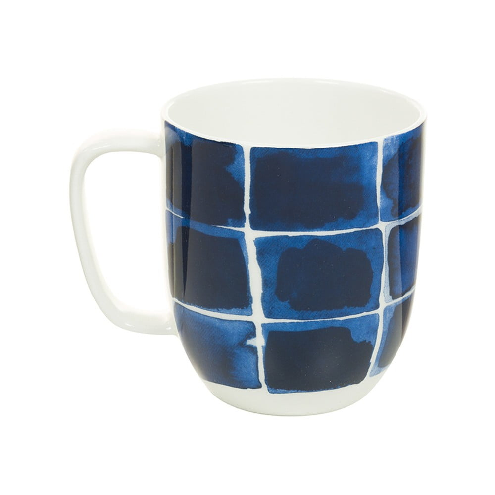 Modrobílý porcelánový hrneček Santiago Pons Indigo, 380 ml