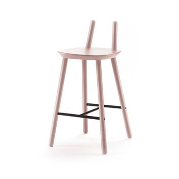 Scaun din lemn pentru bar EMKO Naive imagine