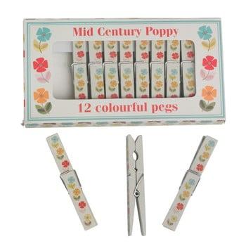 Set 12 cârlige de rufe Rex London Poppy imagine