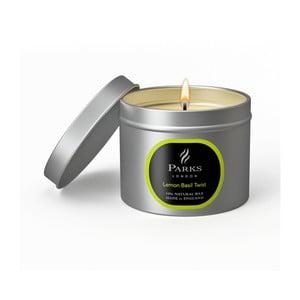 Svíčka s vůní citrónu a bazalky Parks Candles London Twist, 25 hodin hoření