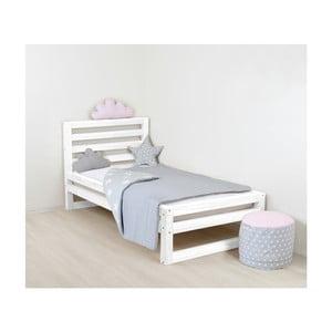 Dětská bílá dřevěná jednolůžková postel Benlemi DeLuxe, 160x80cm