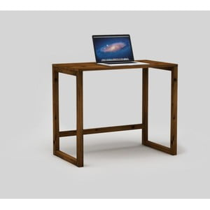Tmavě hnědý psací stůl Only Wood Desk