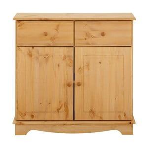 Dulap din lemn de pin pentru veselă, cu 2 uși, Støraa Cheryl