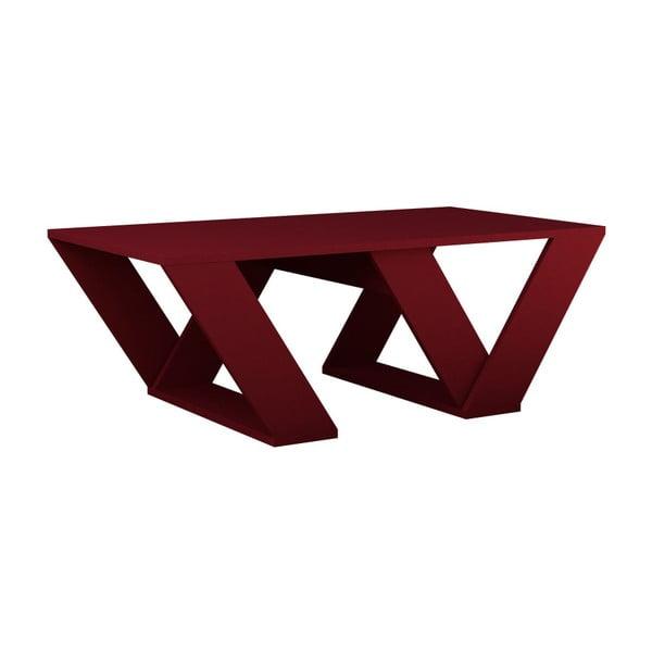 Ciemnoczerwony stolik Homitis Pipra