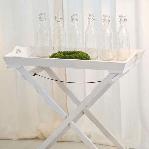 Dřevěný stolek Pilant, bílý