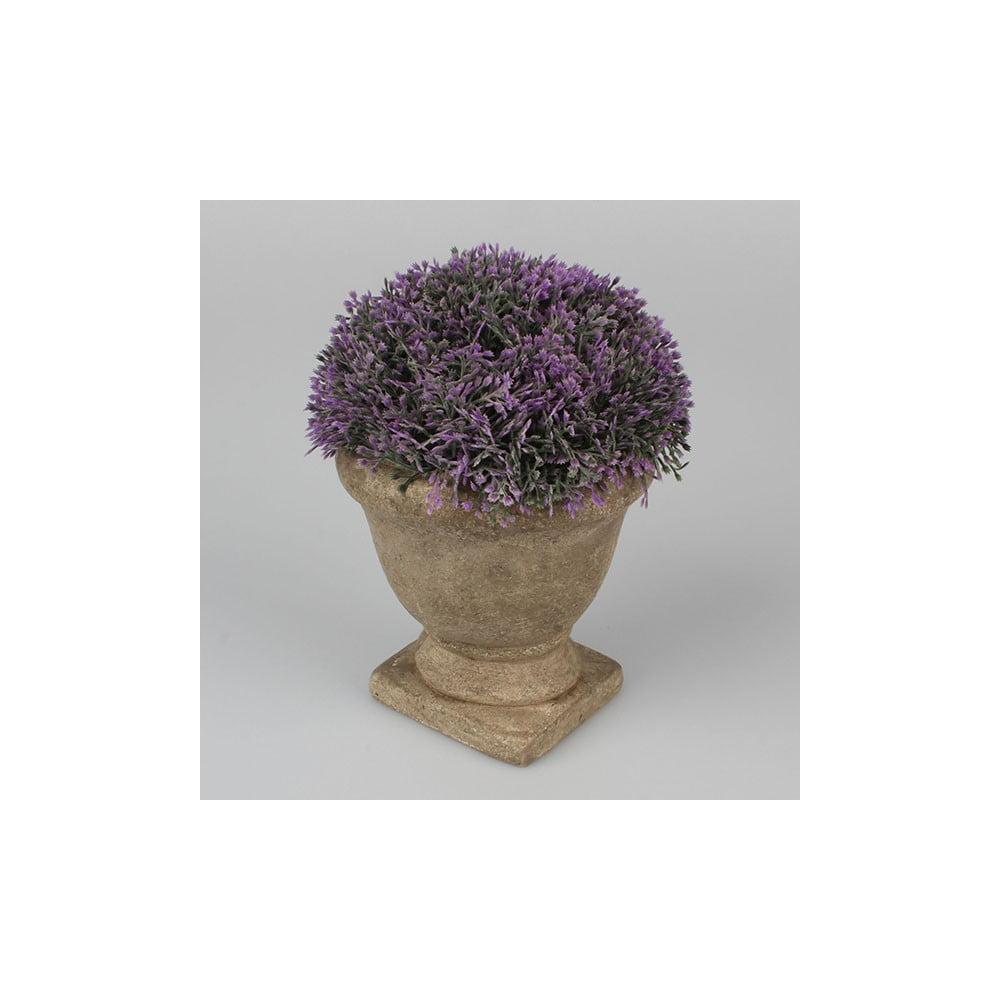 Fialová květinová dekorace Dakls, výška 19cm