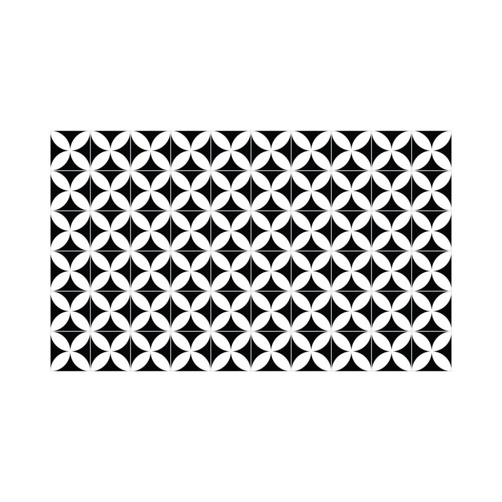 Sada 60 nástěnných samolepek Ambiance Wall Decal Cement Tiles Aniello, 15 x 15 cm