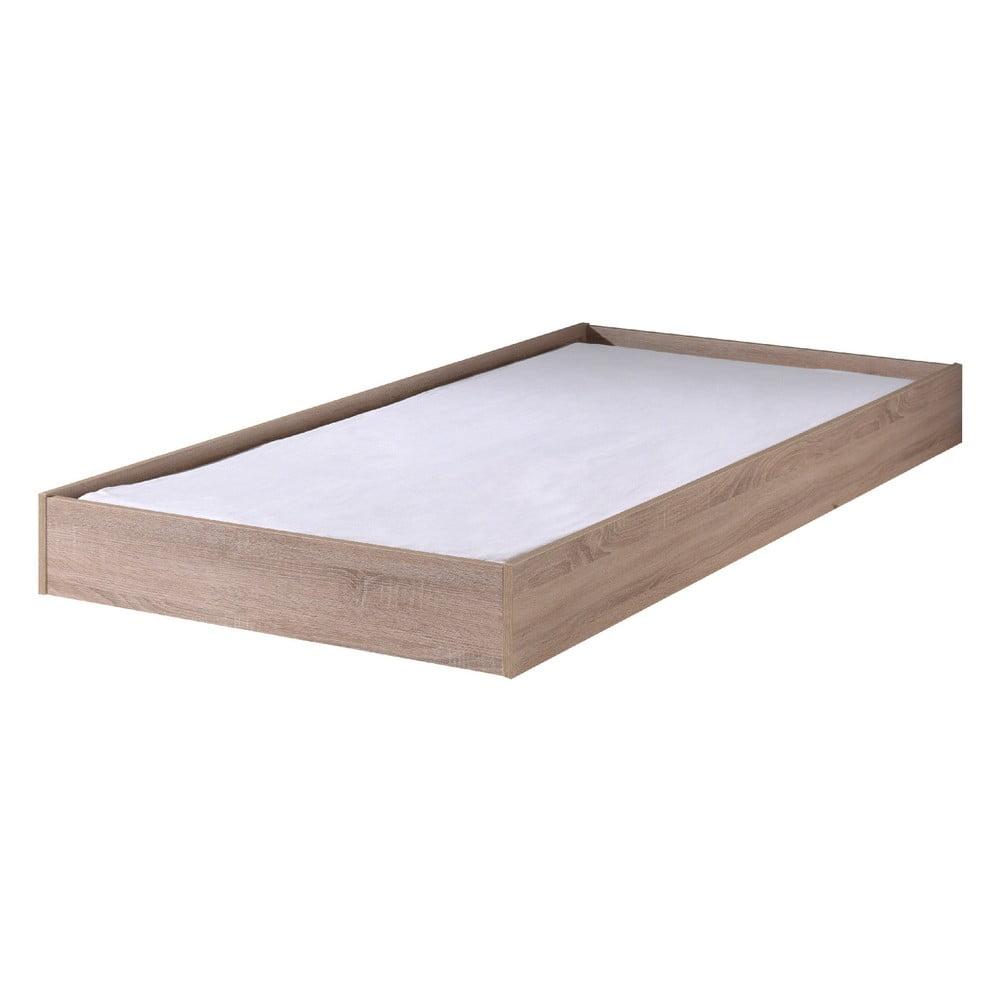 Hnědý úložný systém po postel Aline Vipack, šířka 198 cm