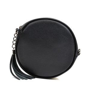 Černá kožená kabelka Anna Luchini Miratia