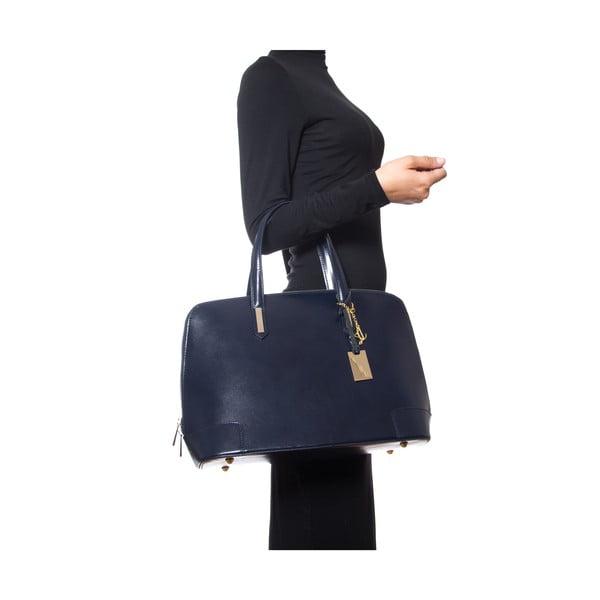 Kožená kabelka Luisa Vanini 364, tmavě modrá