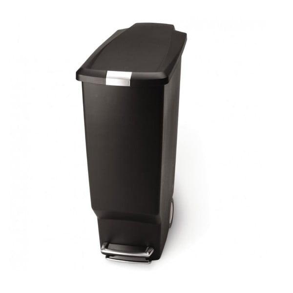 Černý pedálový koš na odpadky simplehuman Sisi, 40 l