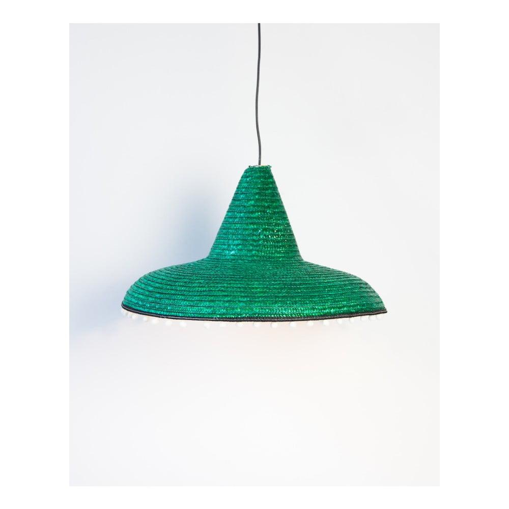 Zelené závěsné svítidlo Surdic Mexican, Ø 55 cm