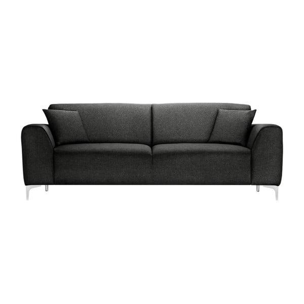 Antracytowa sofa 3-osobowa Florenzzi Stradella