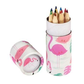Set de 12 de creioane în tub decorativ Rex London Flamingo Bay imagine