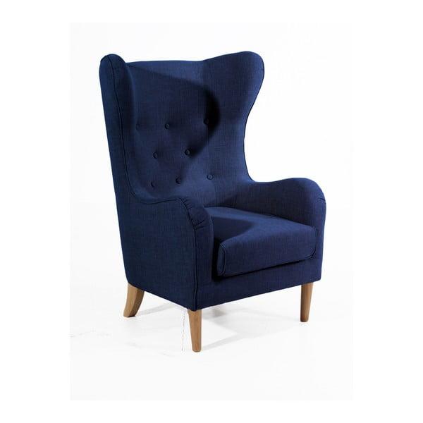 Miriam Linen sötétkék füles fotel - Max Winzer