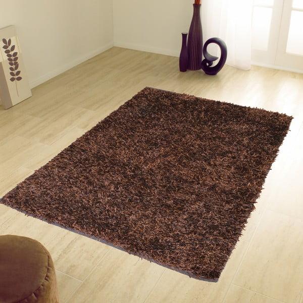 Hnědý koberec Webtappeti Shaggy, 120x170cm