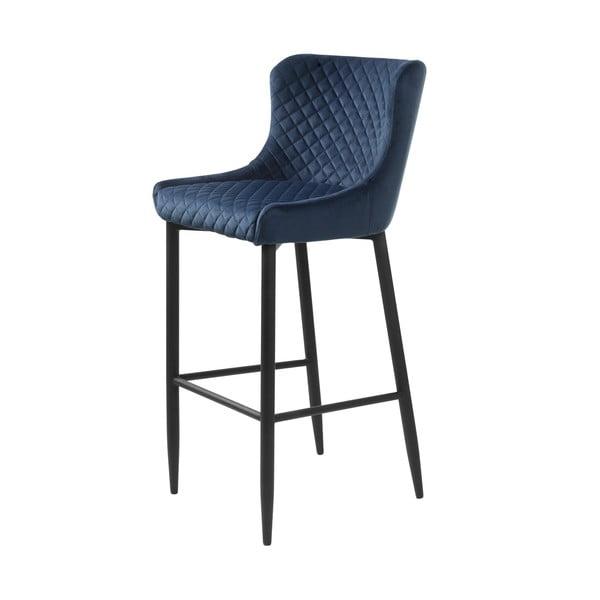 Scaun bar tapițat Unique Furniture Ottowa, albastru închis