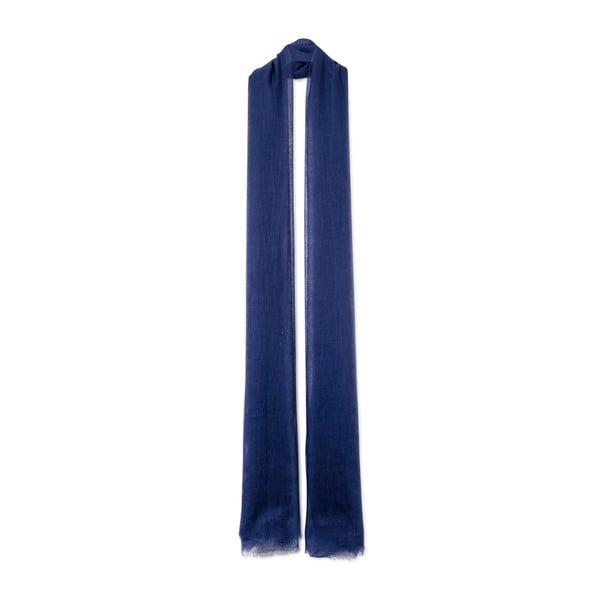 Tmavomodrý tenký kašmírový šál Bel cashmere Mila, 240 x 110 cm