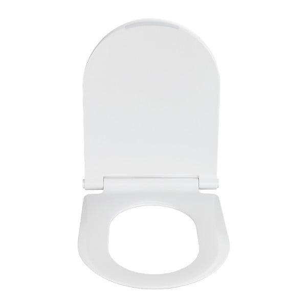 Bílé WC sedátko Wenko Nuoro White, 45,2 x 36,2 cm