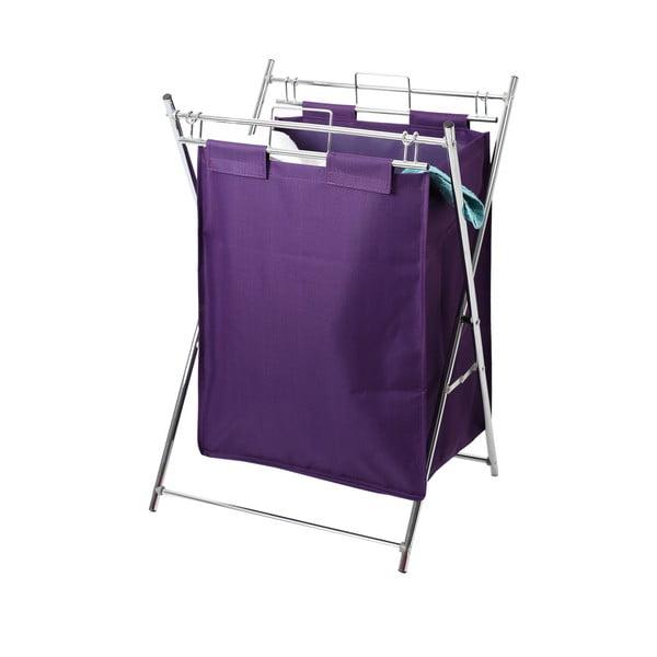 Skládací koš na prádlo, fialový