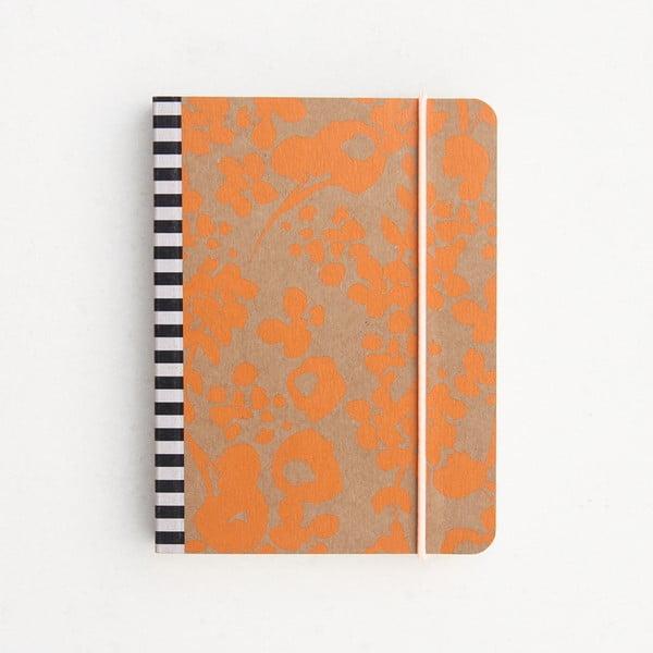 Malý oranžový zápisník Caroline Gardner Mono Ditsy Small Chunky Notebook
