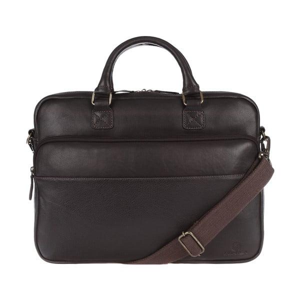 Kožená taška Barnes Malt Brown na notebooky