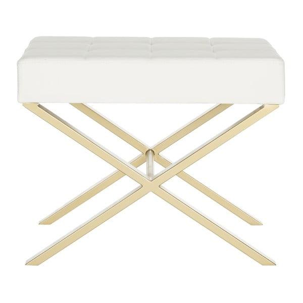 Stolička Safavieh X-Bench, bílá