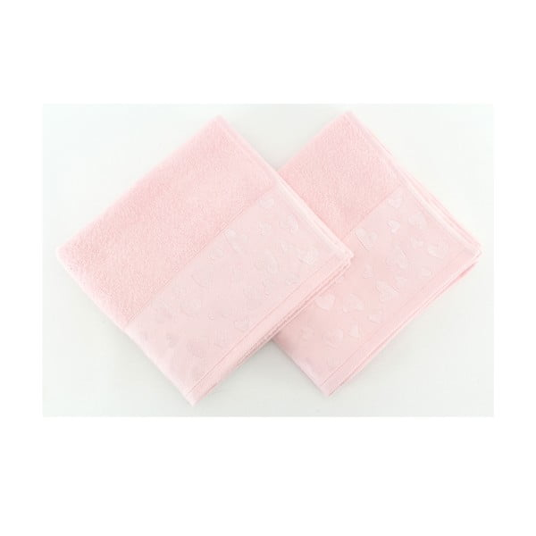 Sada 2 ručníků Kalp Pink, 50x90 cm
