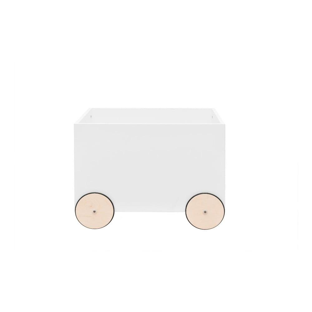 Bílý pojízdný box na hračky BELLAMY Lotta
