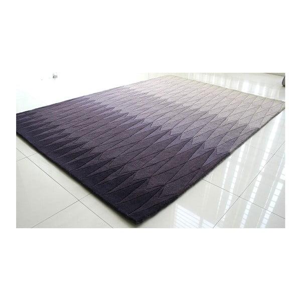 Vlněný koberec Acacia Purple, 140x200 cm