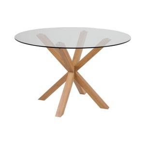 Příruční stolek se skleněnou deskou Actona Heaven, ⌀119cm