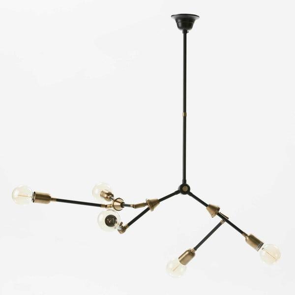 Černé stropní svítidlo z kovu Thai Natura Spider