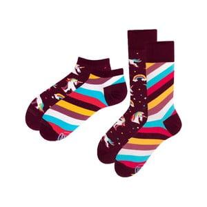 Sada 2 párů klasických a kotníkových ponožek Many Mornings Unicorn, vel.39-42