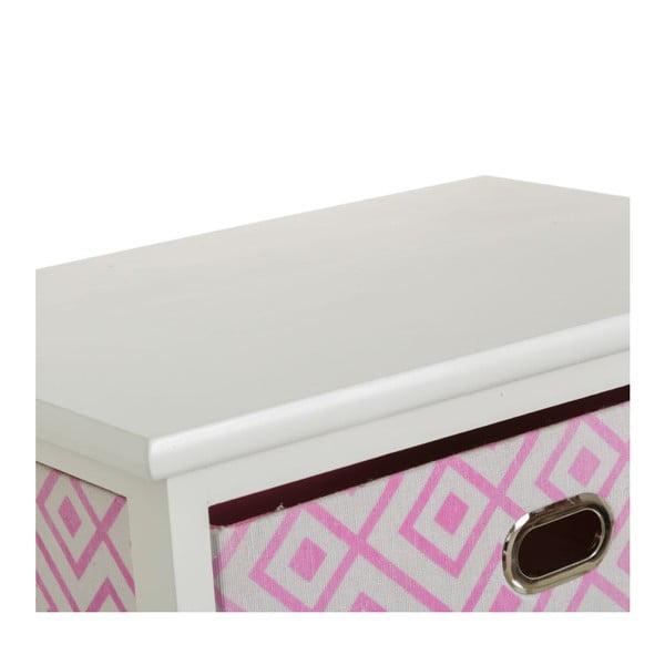 Poliță cu 3 sertare Unimasa Paulonia, 40 x 58 cm, roz