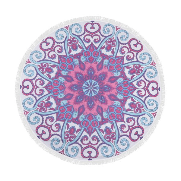 Barevná plážová osuška ze 100% bavlny Suri, ⌀ 150 cm