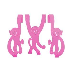 Věšáky na dveře Monkey, růžové
