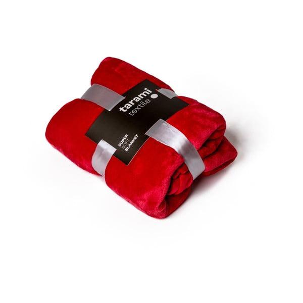 Červená deka Tarami, 200 x 150 cm