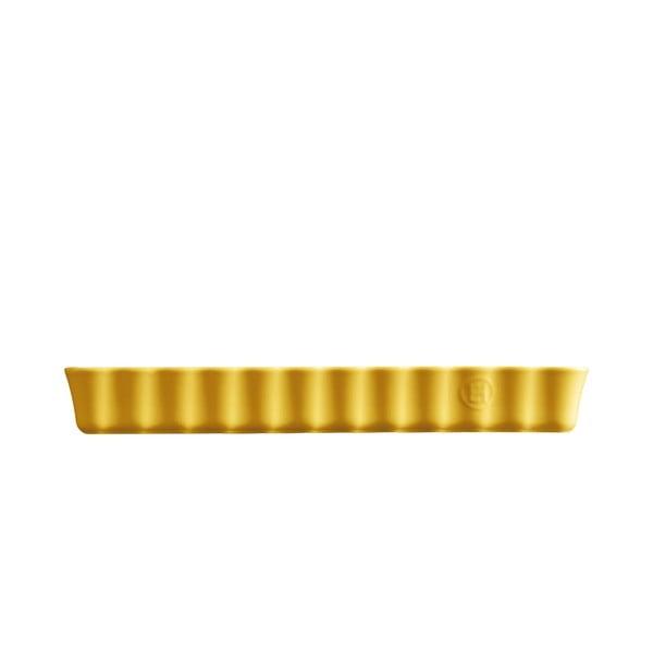 Formă dreptunghiulară pentru plăcintă Emile Henry, 15 x 36 cm, galben deschis